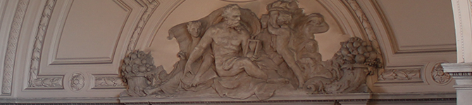 Detail from the east wall of the Rotunda in San Francisco City Hall