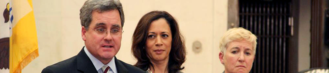 Herrera, Attorney General Kamala Harris and then-Chief Deputy Terry Stewart, Dec. 12, 2013