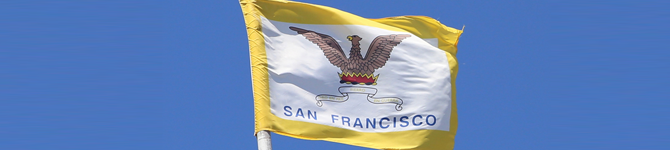 The official flag of the City and County of San Francisco