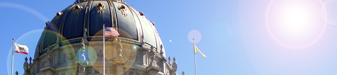 Sunshine over City Hall.