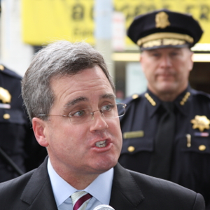 City Attorney Herrera, with SFPD Chief Greg Suhr. San Francisco Police played a key role in helping Herrera bring suit against a prolific graffiti vandal.