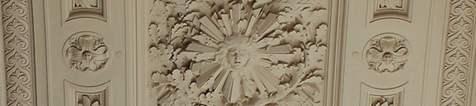 A representation of sunshine from the interior detail of San Francisco's City Hall.