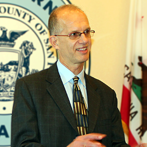 Deputy City Attorney Jim Emery answers questions following oral arguments before the California Court of Appeal on Sept. 17, 2015.