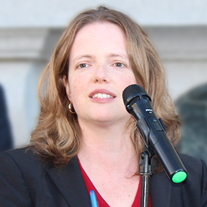 Deputy City Attorney Tara Steeley argued in April that California courts have jurisdiction to hear consumer protection cases like the one City Attorney Dennis Herrera filed against Monster Energy—and that Monster's pre-emptive suit to block Herrera was properly dismissed by a federal court. The Ninth Circuit U.S. Court of Appeals agreed, upholding the dismissal on May 17, 2016.